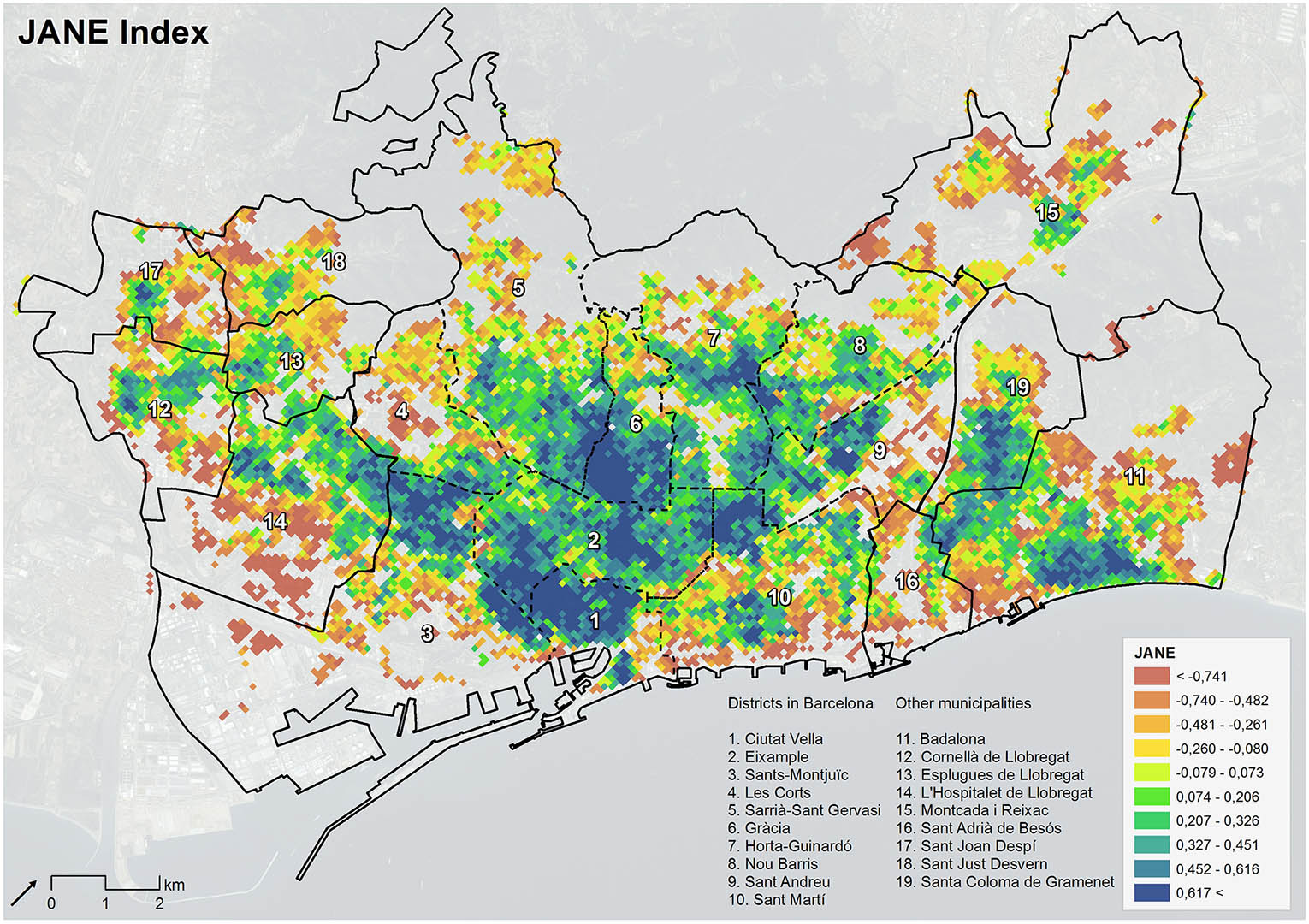 The Urban Vitality of Barcelona – Mapped