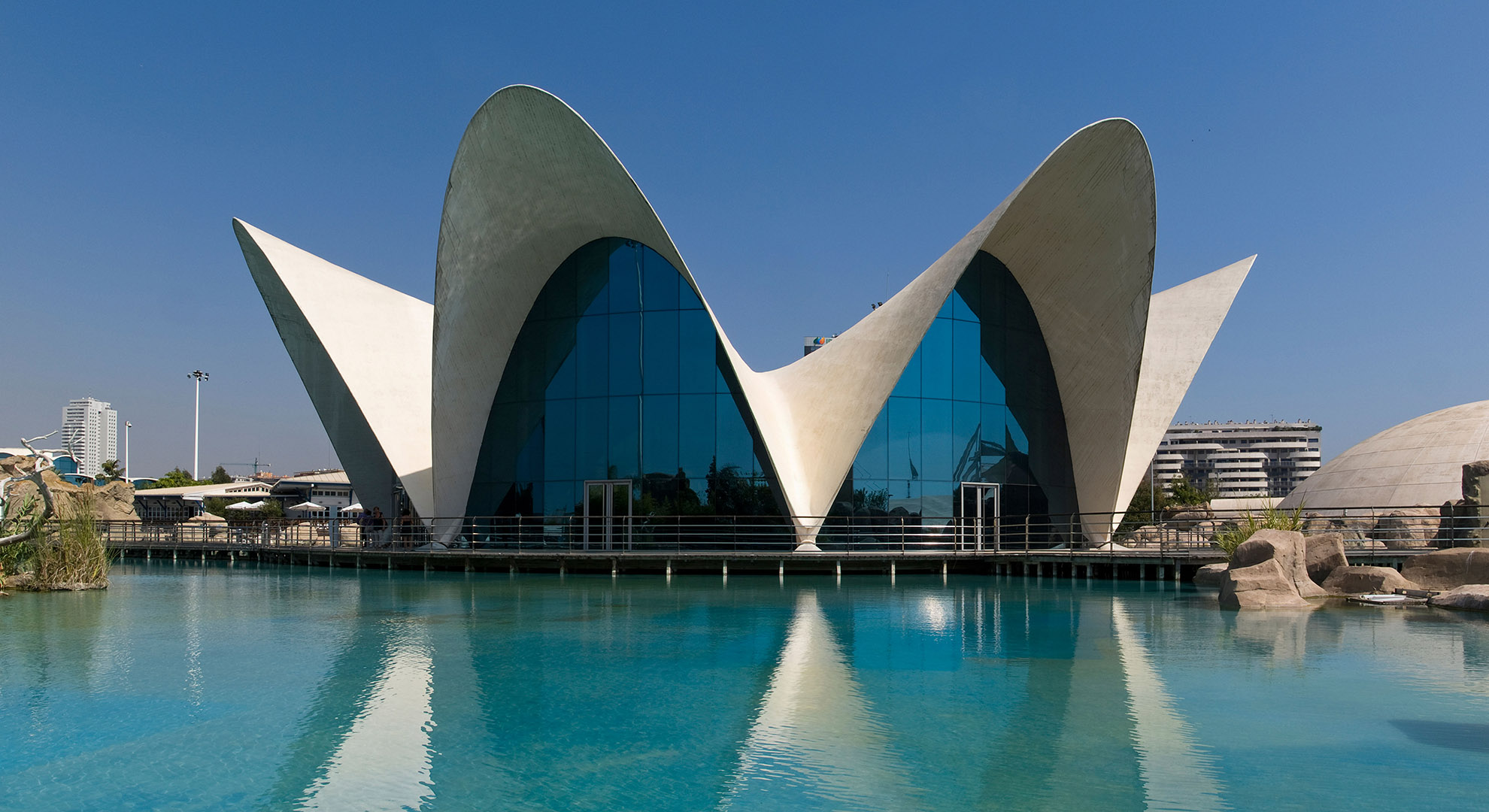 Aquarium architecture in Valencia