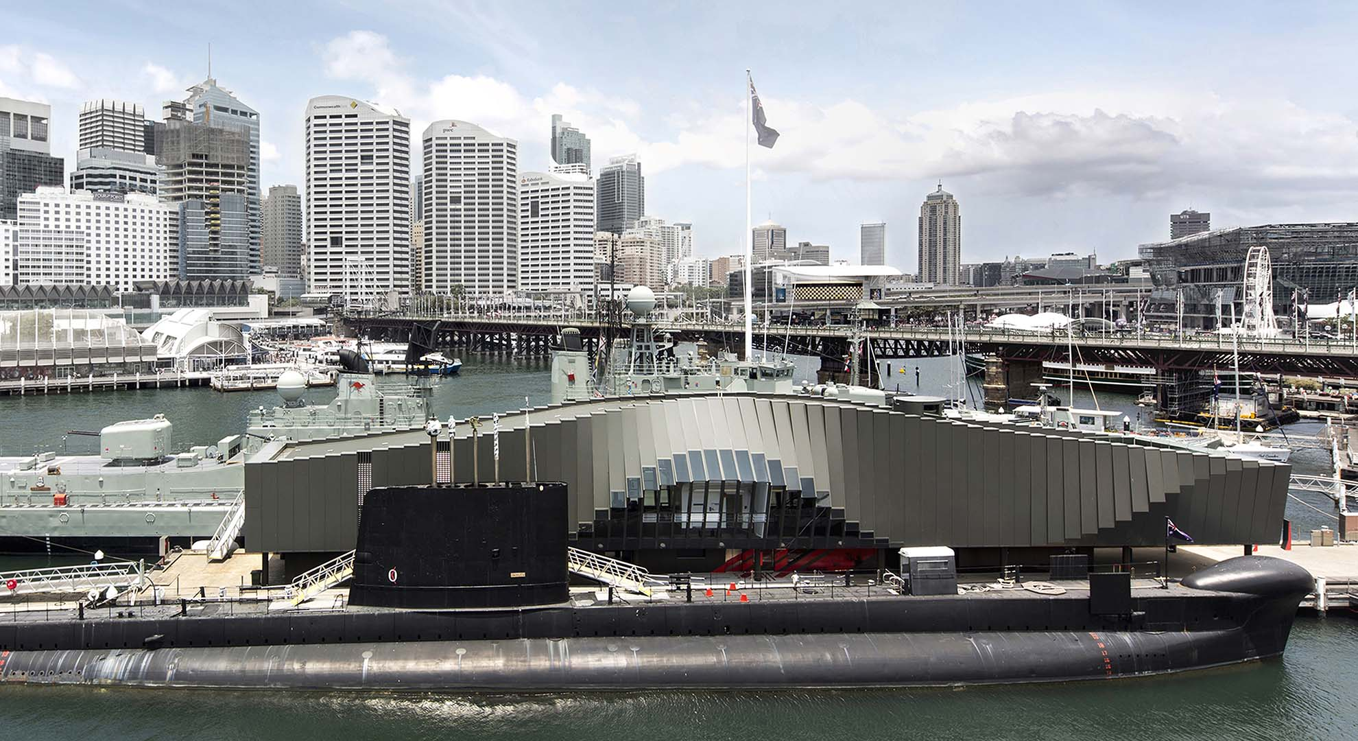 Maritime architecture in Sidney. Waterfront Pavilion