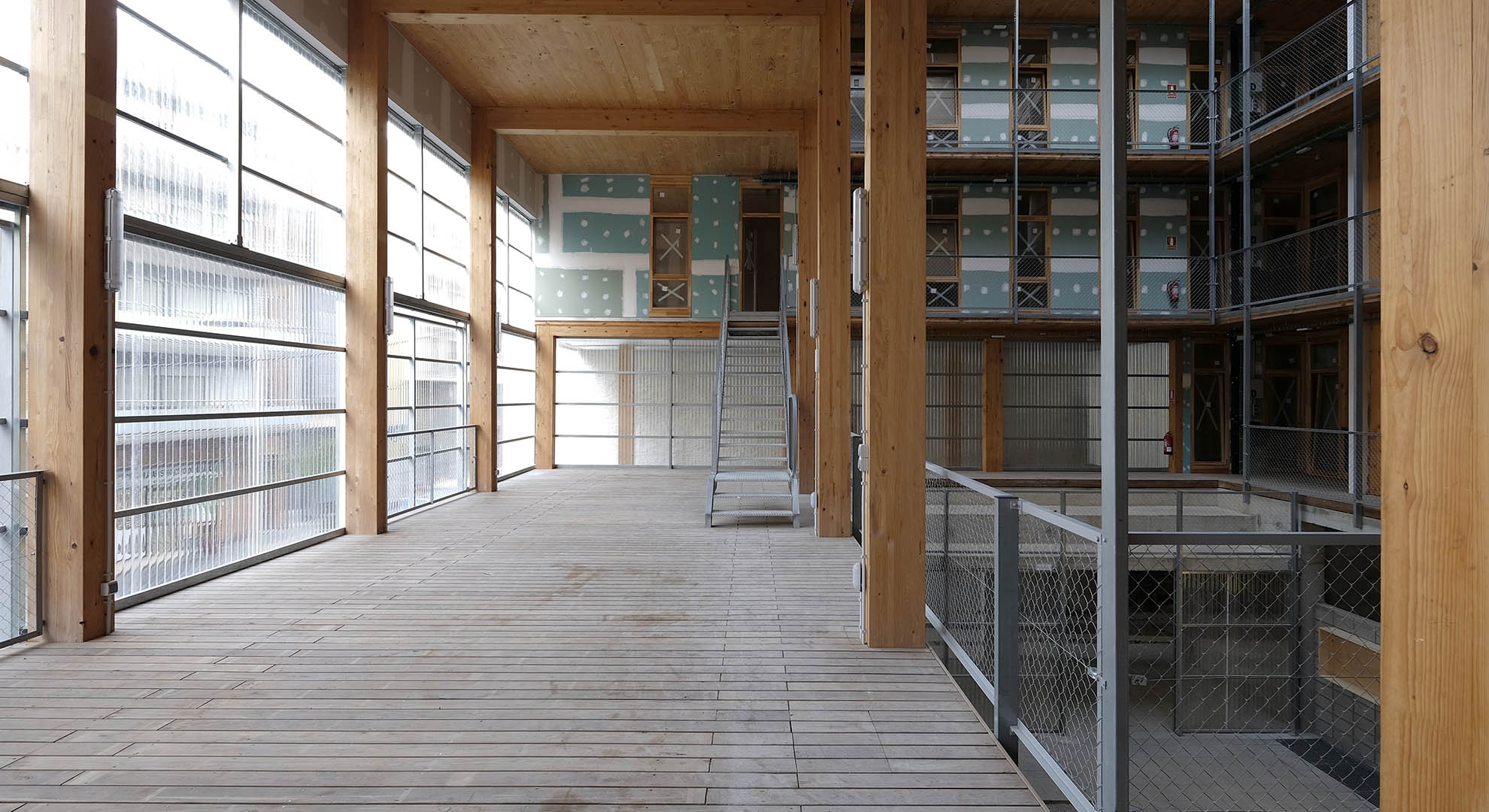 La Borda Housing Cooperative Interior built with CLT
