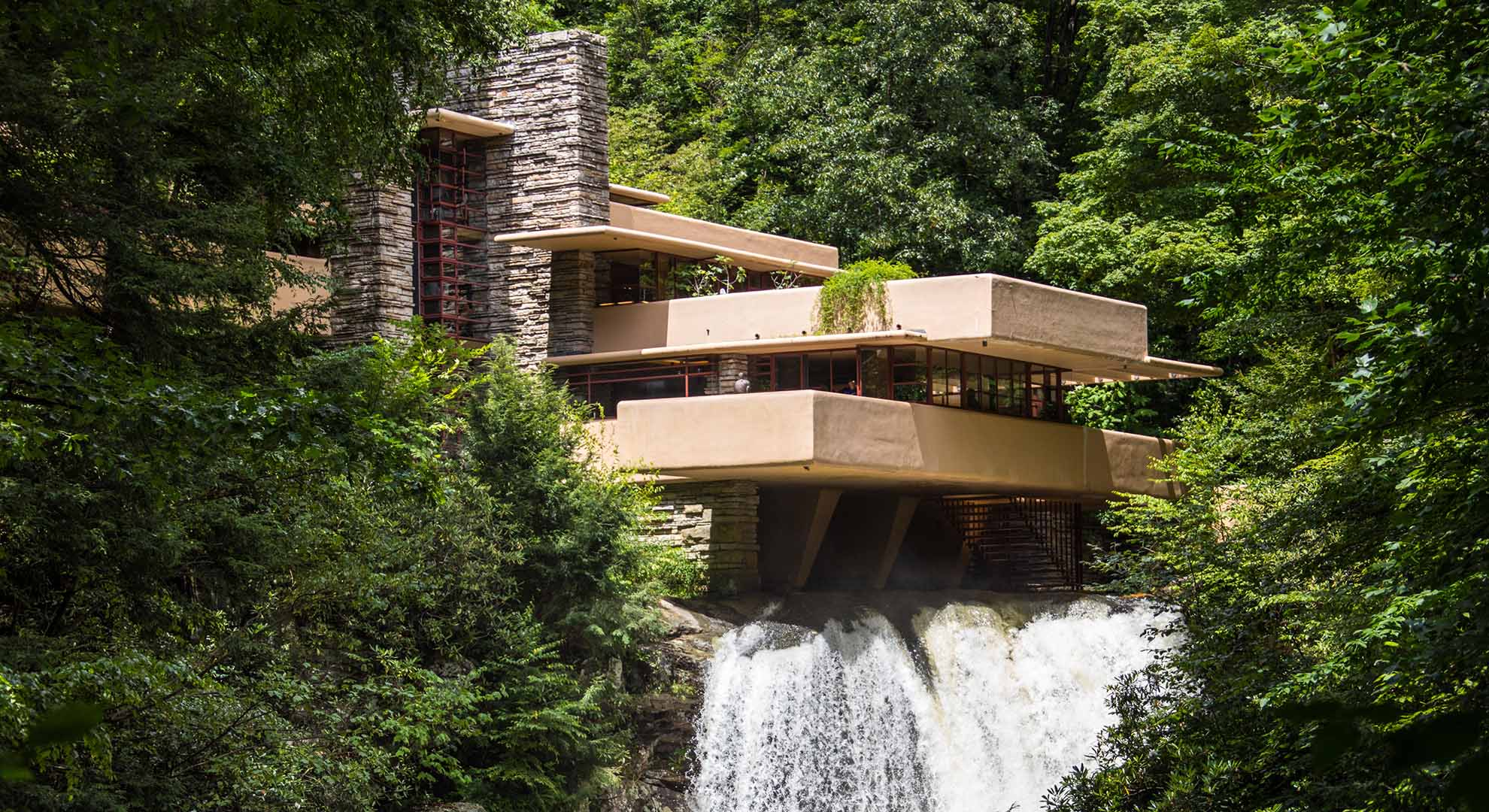 Falling Water by Frank Lloyd Wright. Example of water architecture