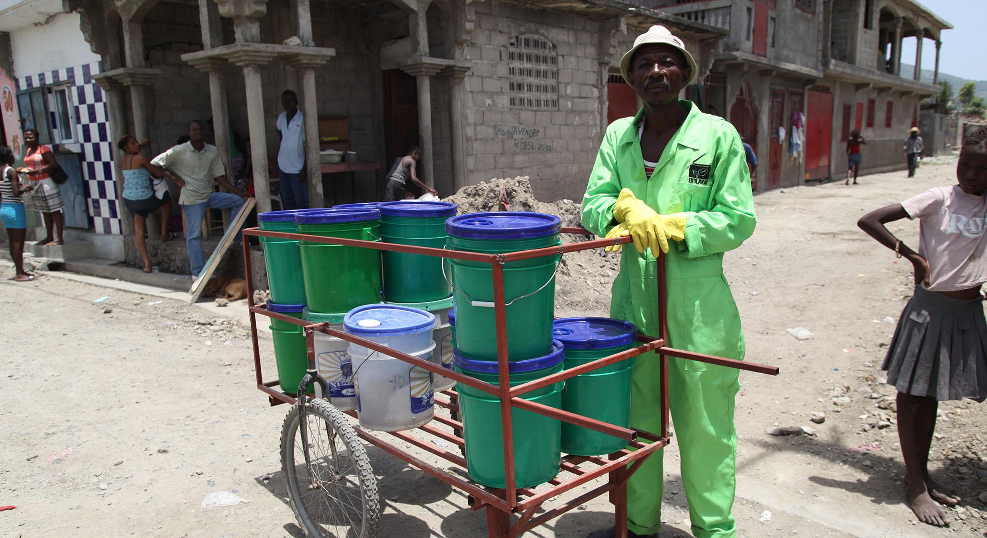Container collection in Cap Haitien, Haiti
