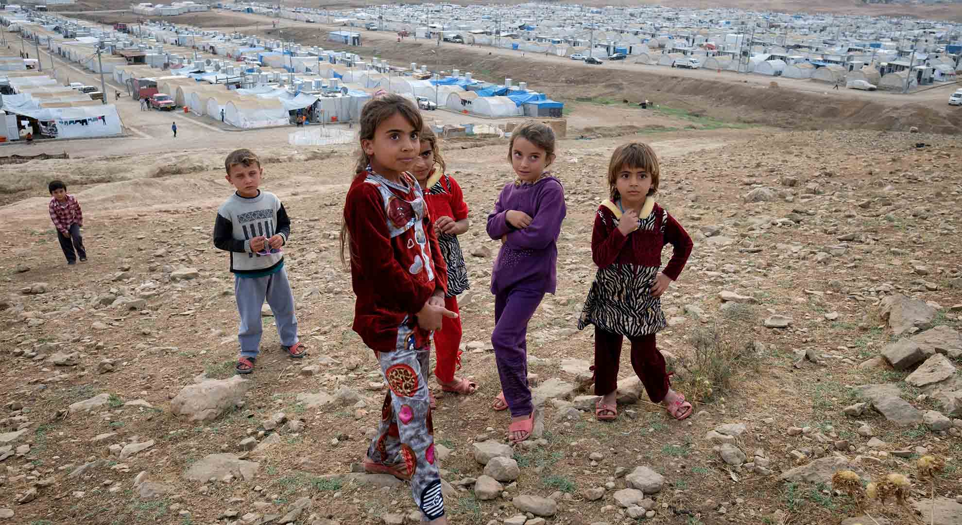 Living conditions in refugee camps: refugee children in the Northern Iraq_Kurdih Border