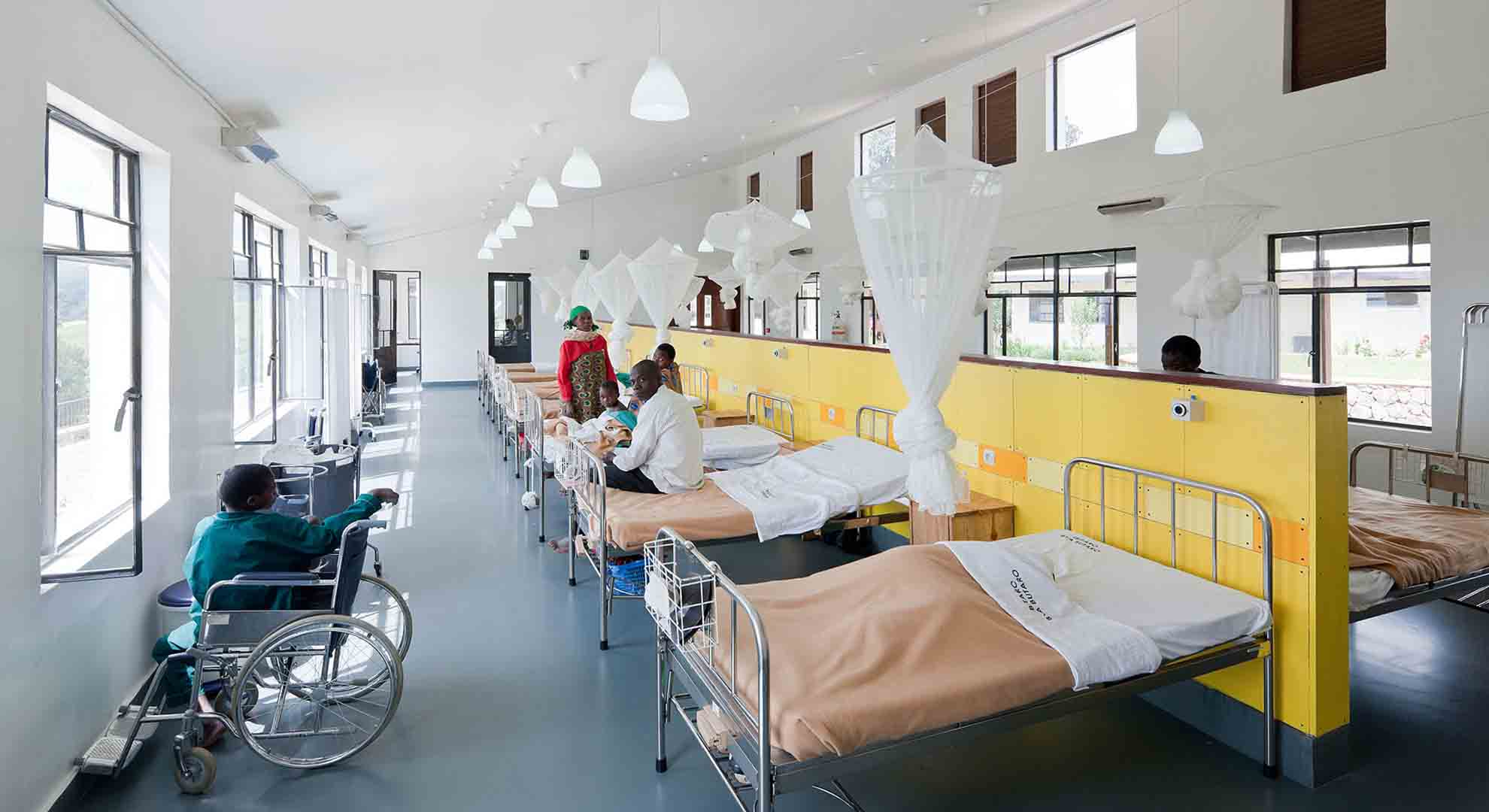 Hospital design in Rwanda helps to mitigate and reduce the transmissions of airborne disease