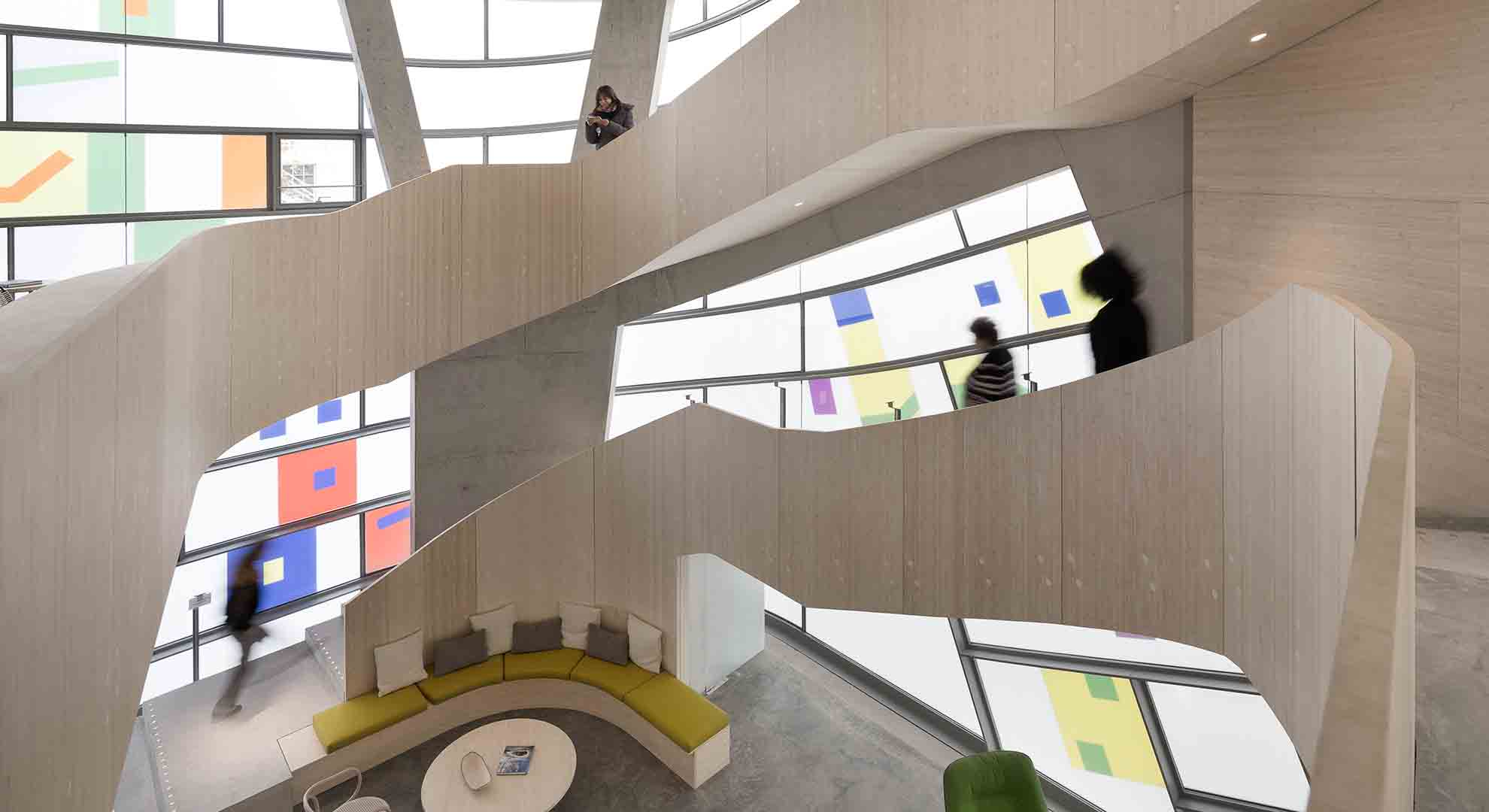 This is the Maggie's Centre designed by Steven Holl Architects in Clerkenwell, London