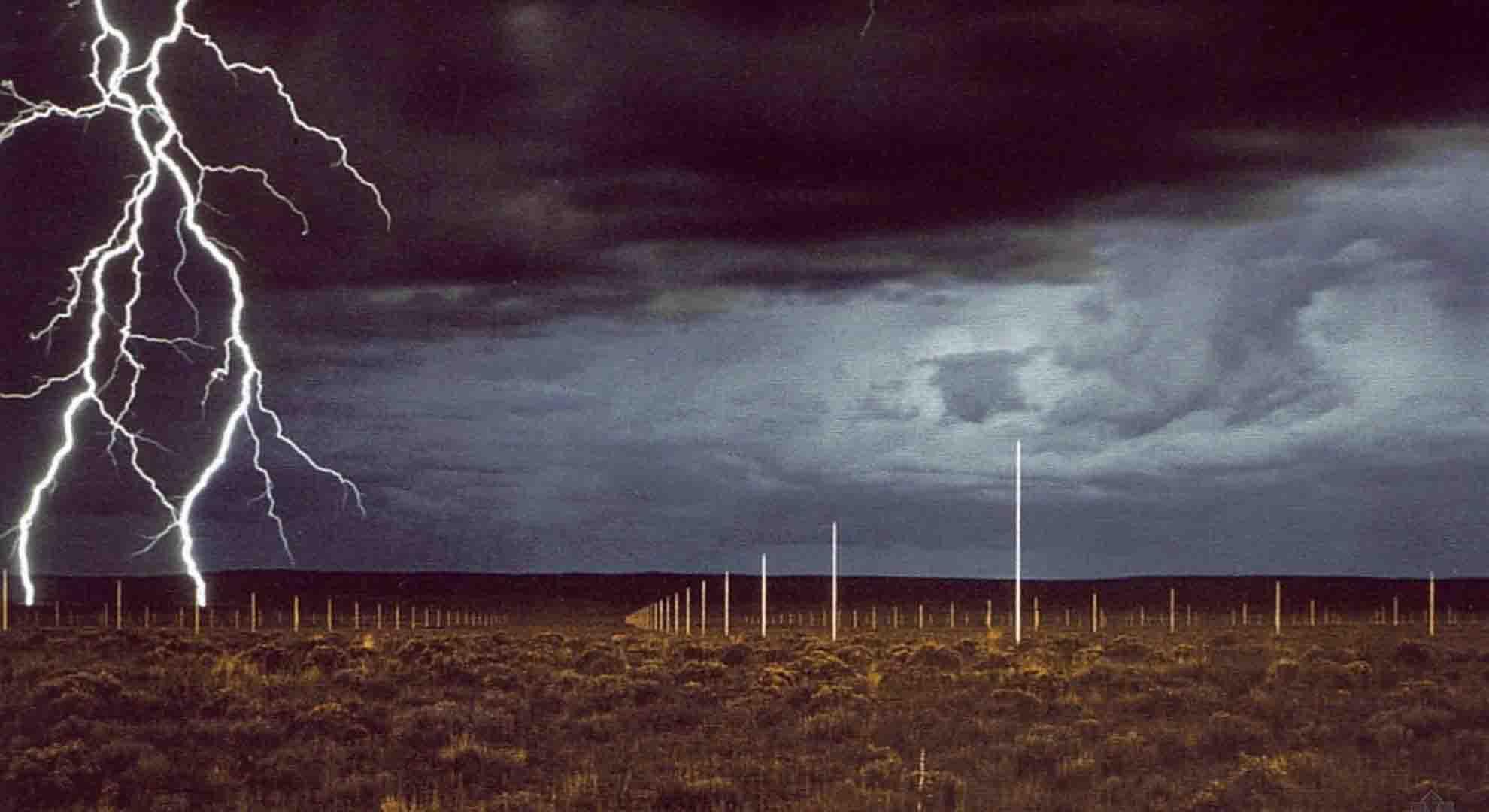 The Lightning Field is a Land Art project by Walter de Maria