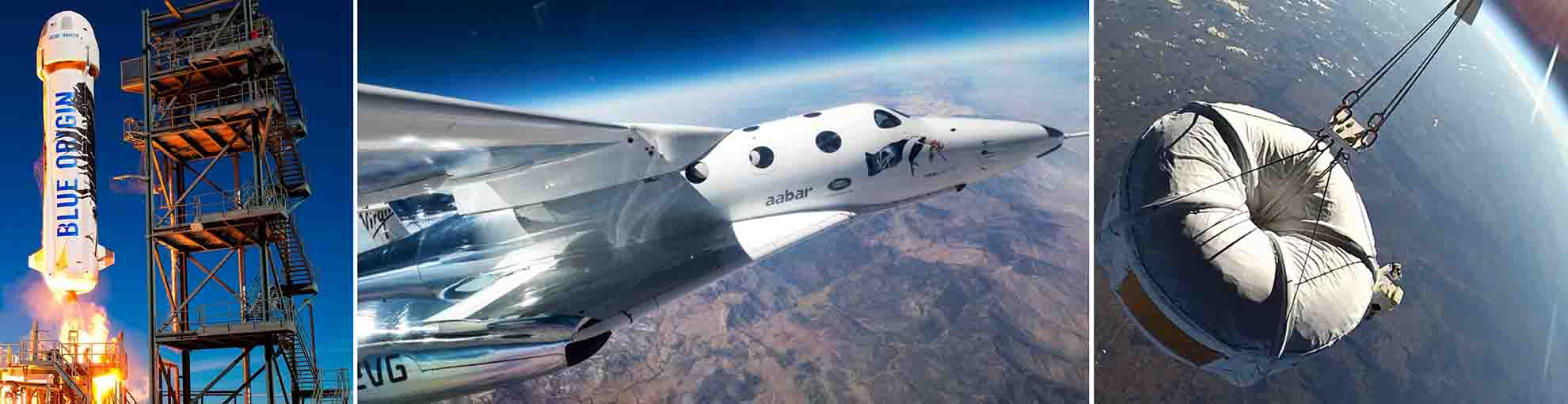 Prototypes for outer space tourism vehicles