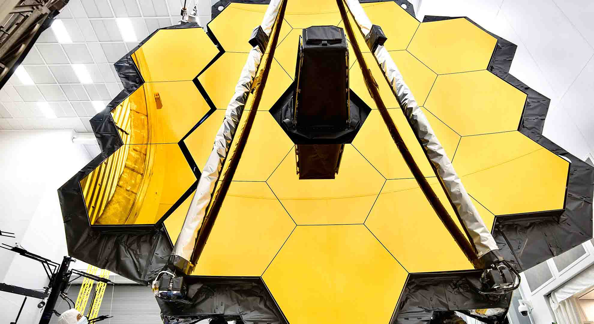 The James Webb Space Telescope under testing before its scheduled launch in 2021