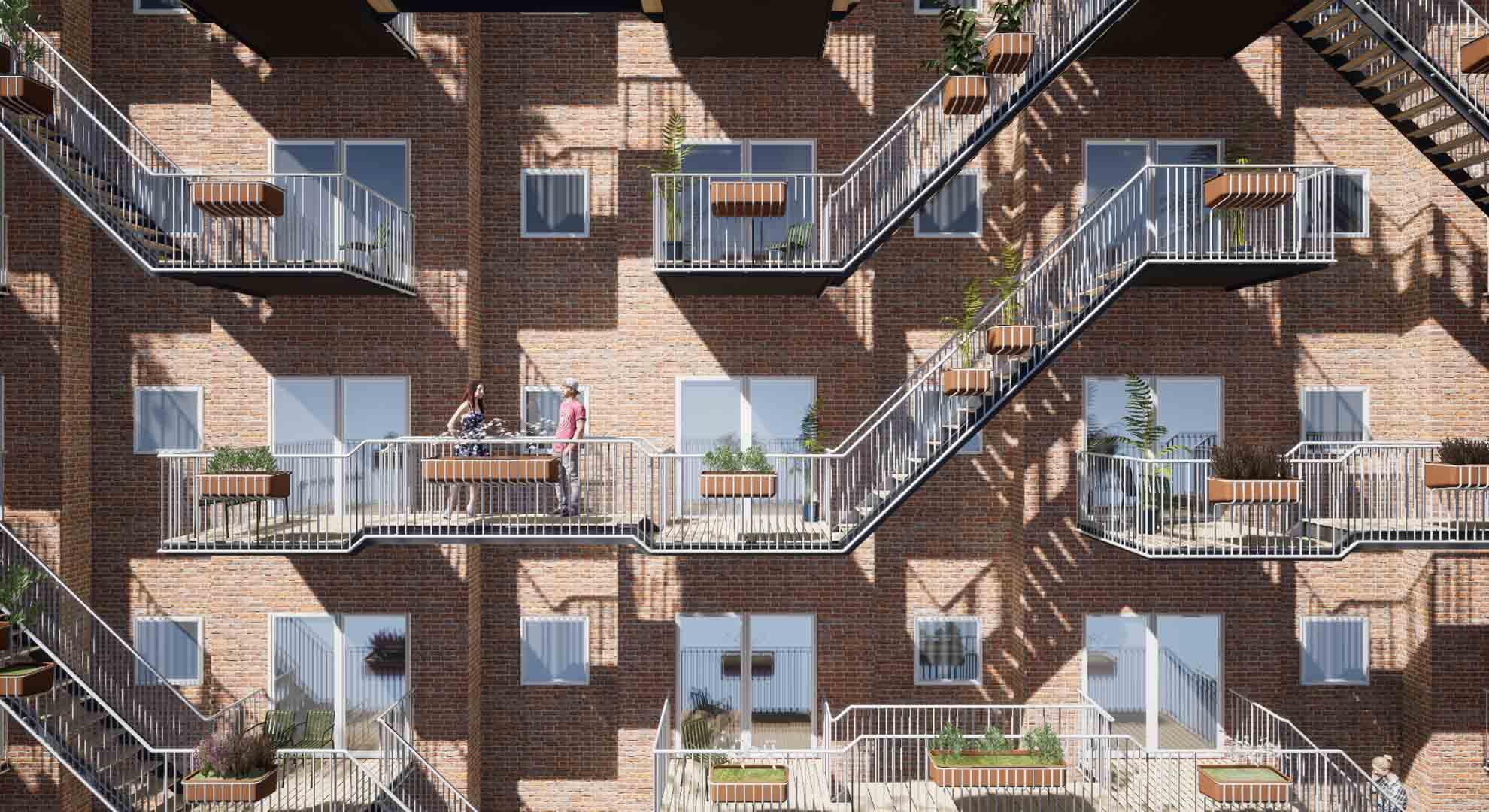 Social balconies are a way of facing loneliness in the city as well as cohousing