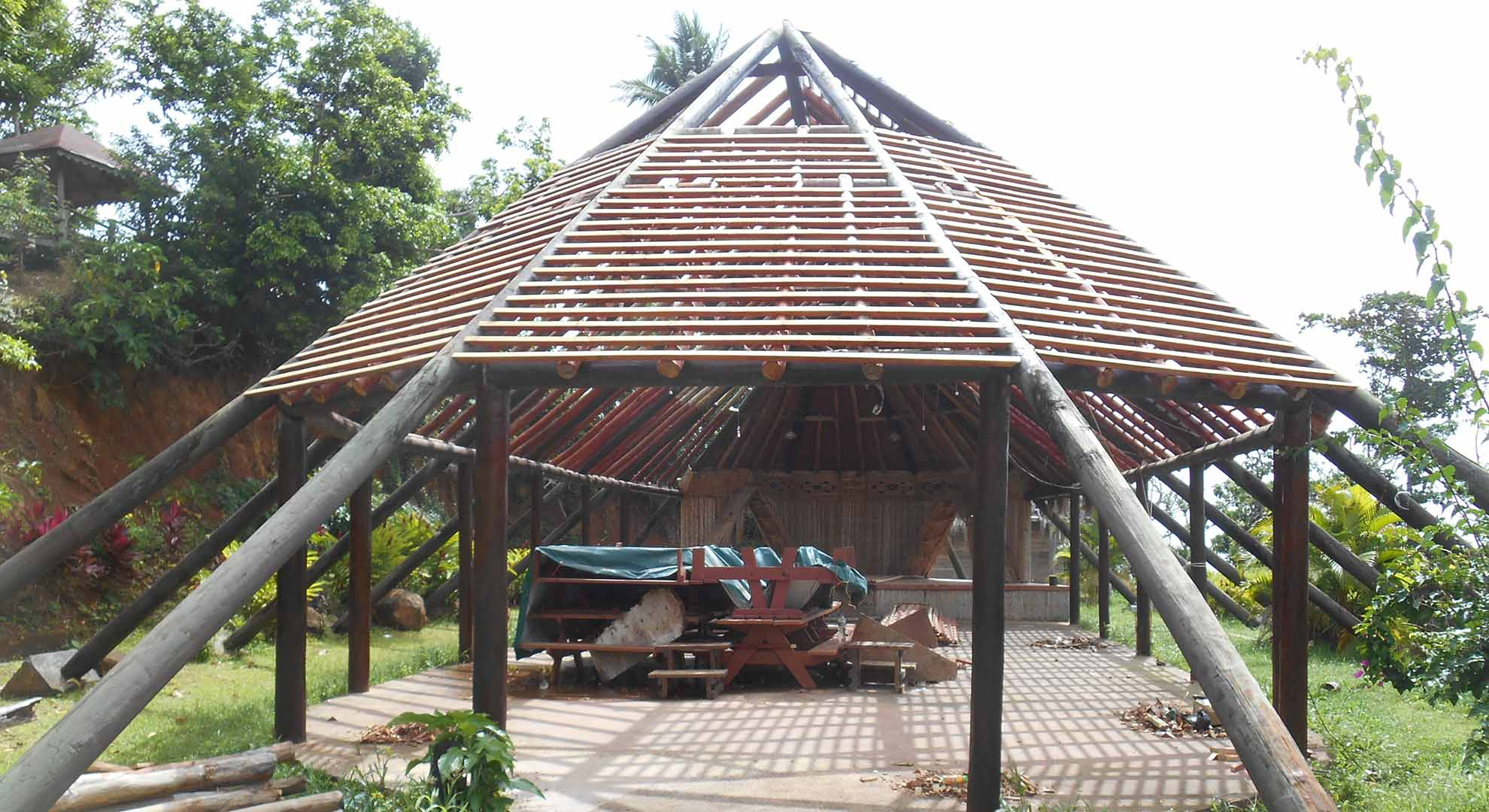 Traditional constructions like this karbet in Barana Auté are key to new resilient construction in the Kalinago Territory of Dominica