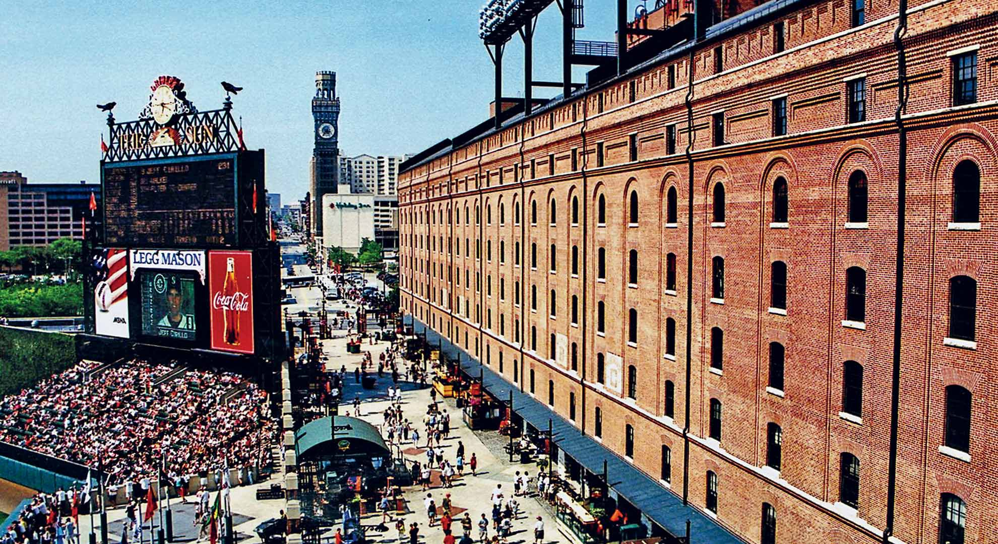 Camden Yards in Baltimore is the first modern stadium in its generation that re-turned to the center of the city