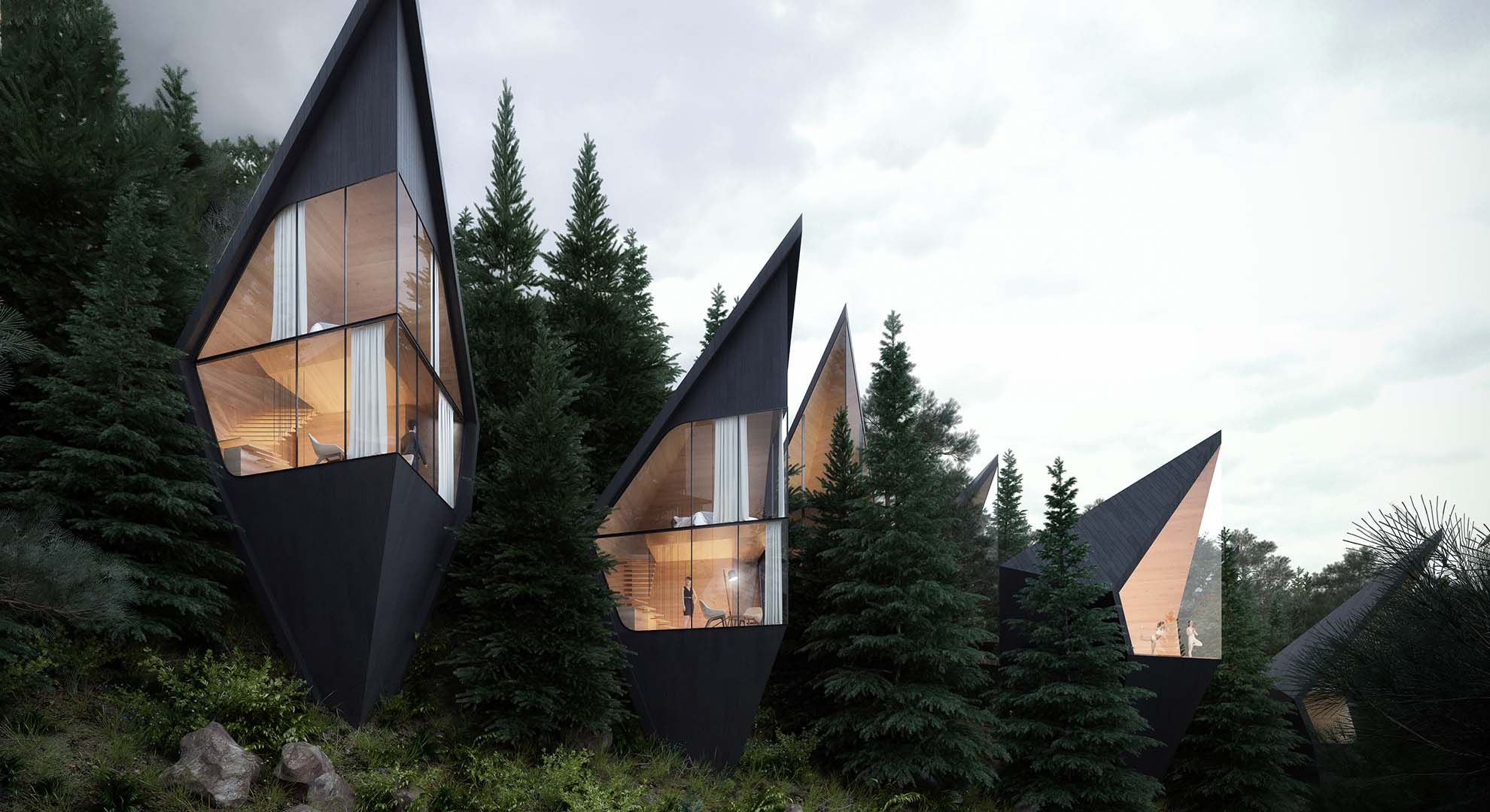 Tree Houses by Peter Pichler Architecture. Architecture and Nature in the Italy Do-lomites