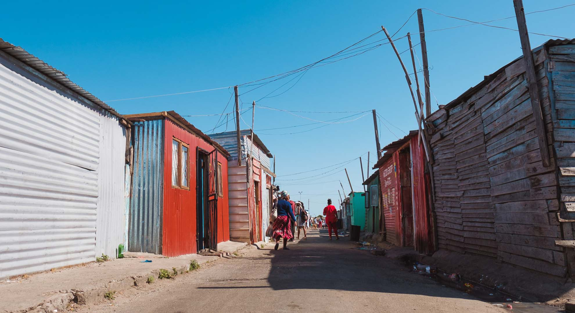 Poverty tourism in Langa's shanty town in Cape Town