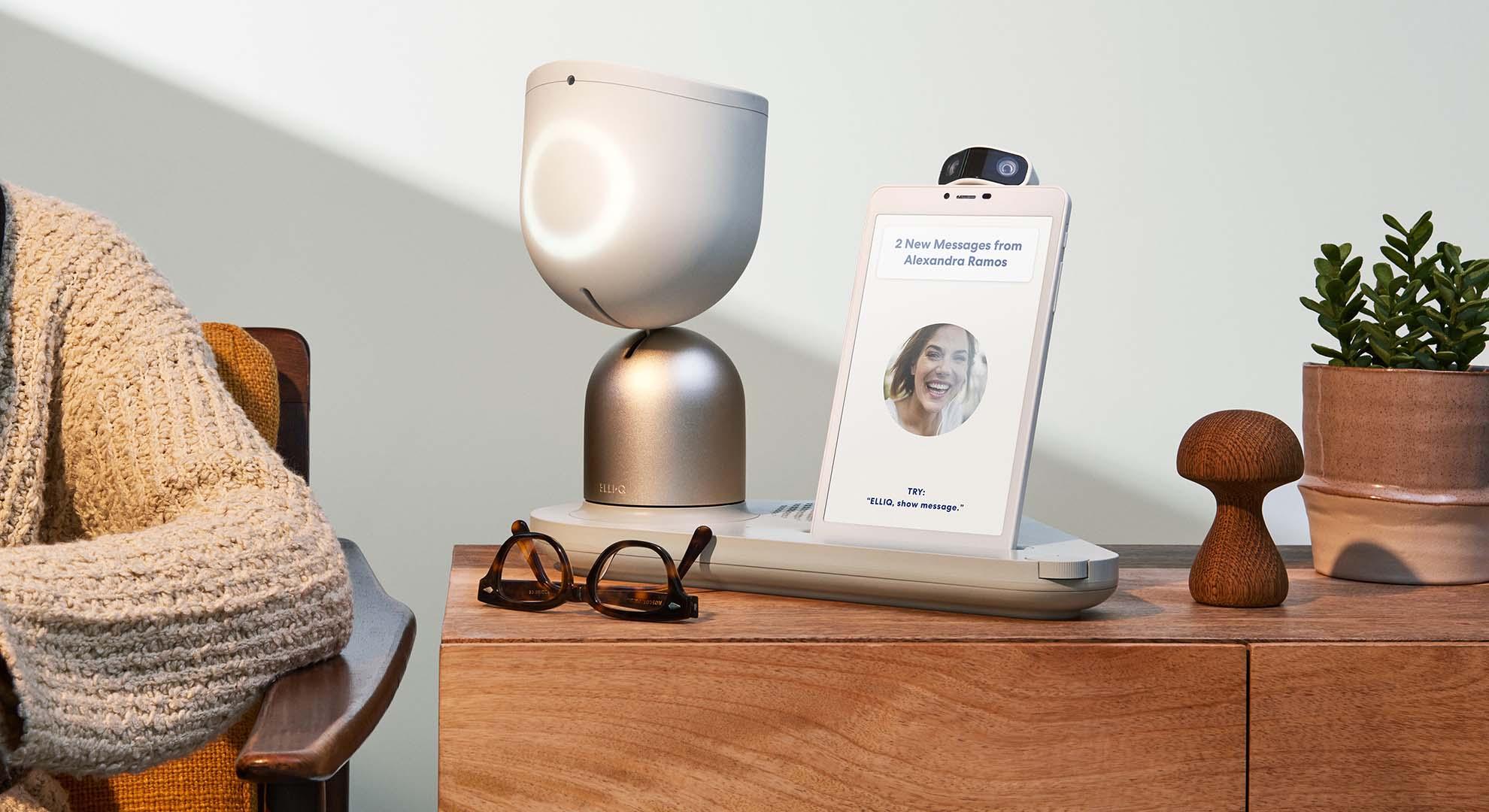 ElliQ social companion robot for the ageing population