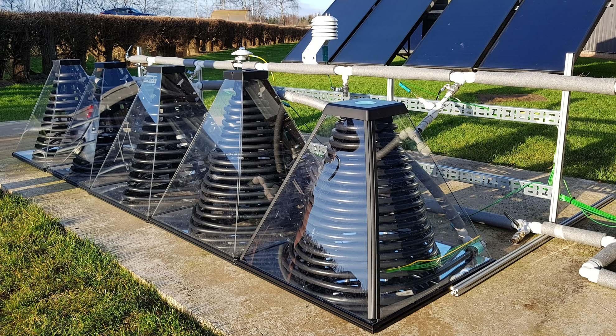 Colector térmico solar ensamblable SolarisKit. Imagen SolarisKit Ltd (www.solariskit.com)