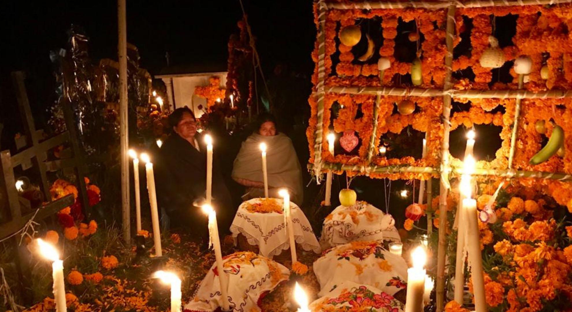 The Día de Muertos celebration in an indigenous community.