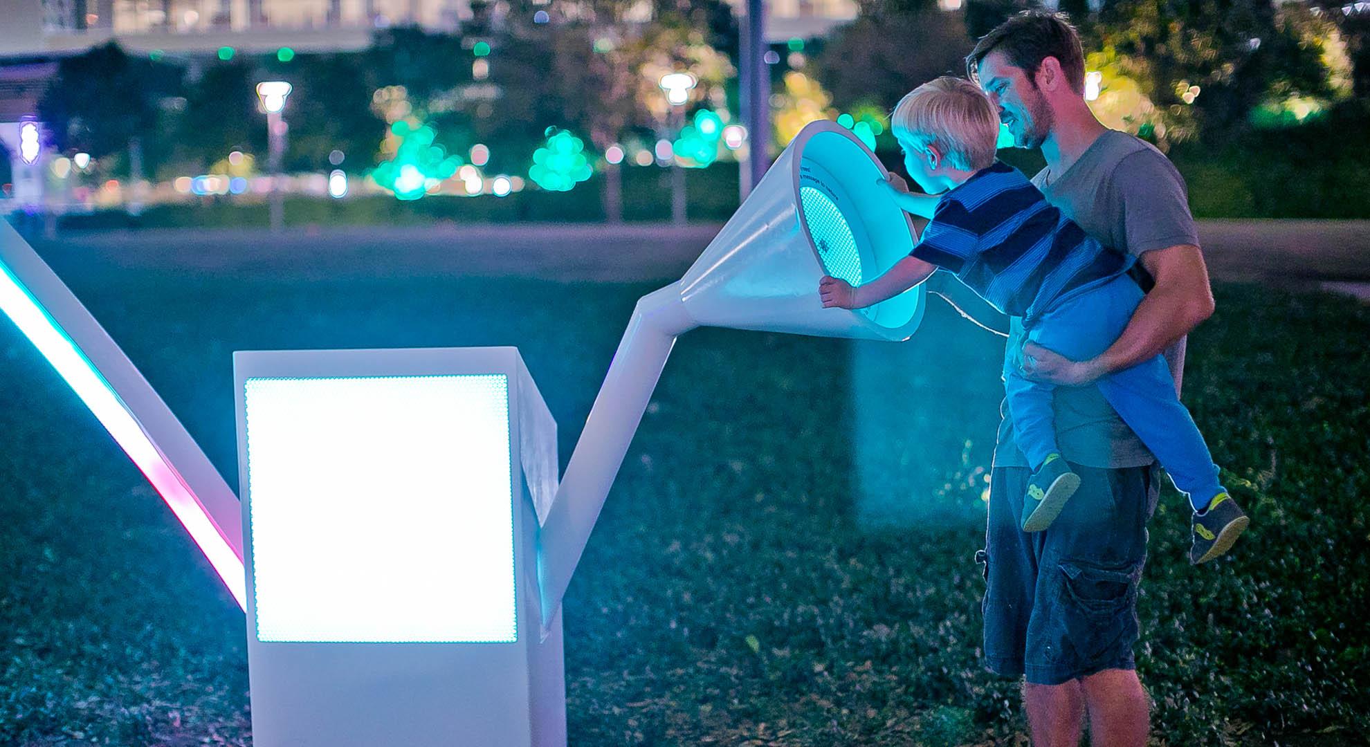 Una instalación en el espacio público de Houston.