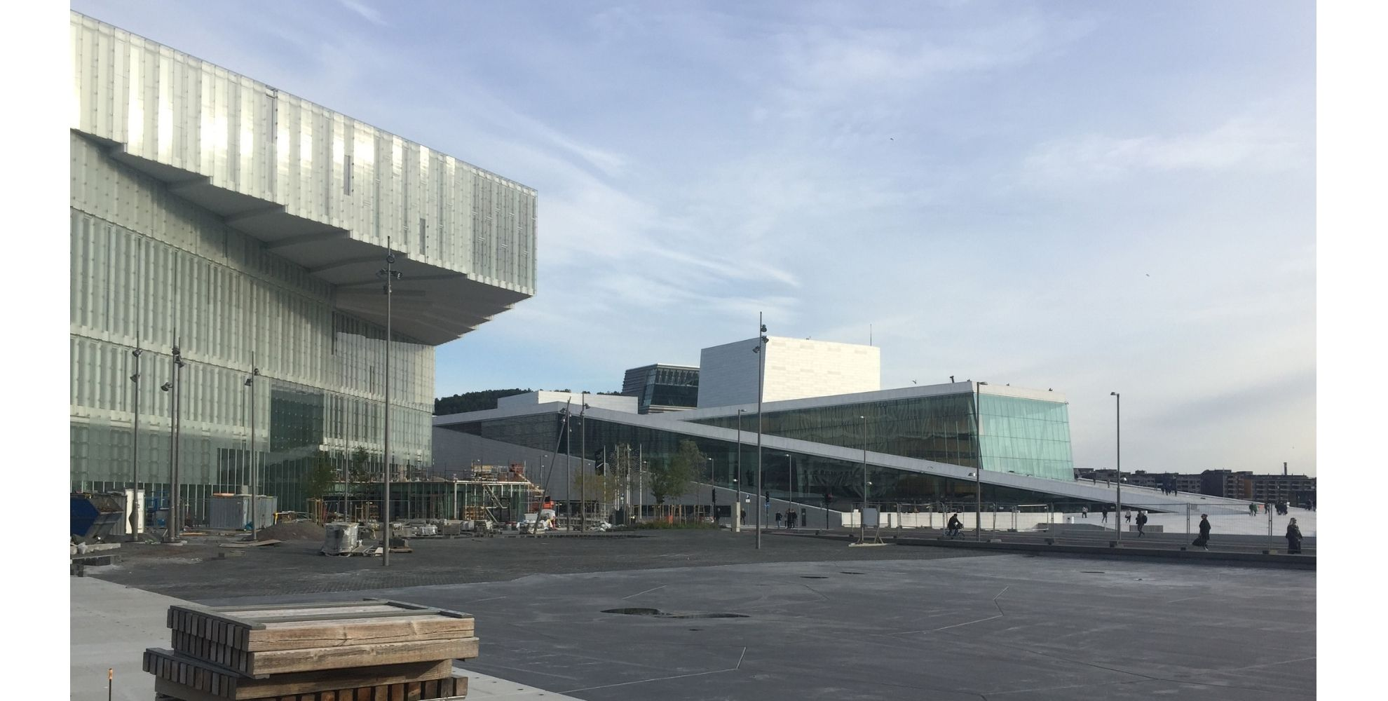 The Norwegian National Opera and Ballet and Oslo Main Library. Public Spaces Examples