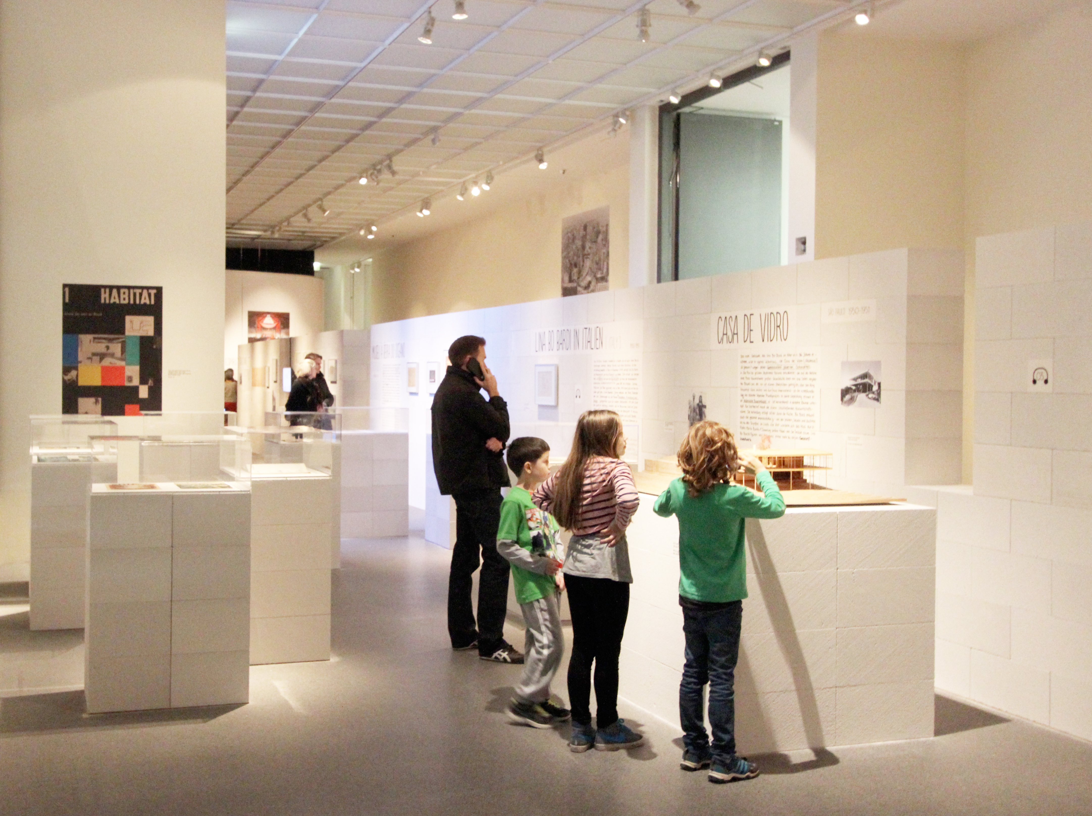 Kids in the architecture exhibition on Bo Bardi.